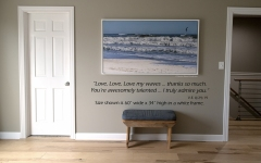 "Beach Ocean Waves canvas 60"" x 34"" in white frame (image #7216)"
